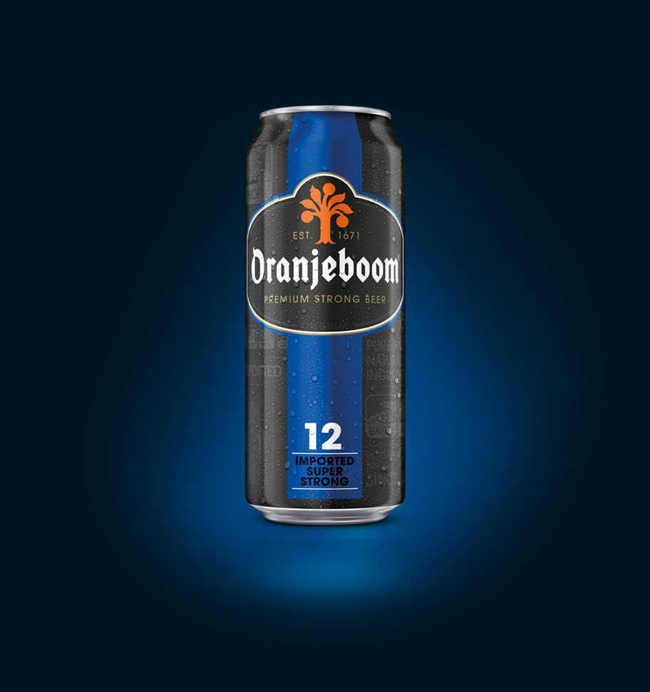 Oranjeboom strong lager can